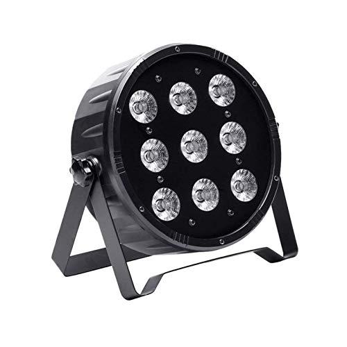UKing Par Led Luz de Escenario 9 x 10W LED RGBW Iluminación Focos de Discoteca con DMX 512 Sonido Activado para Luz DJ Disco Boda Bar Fiesta Luces de Etapa