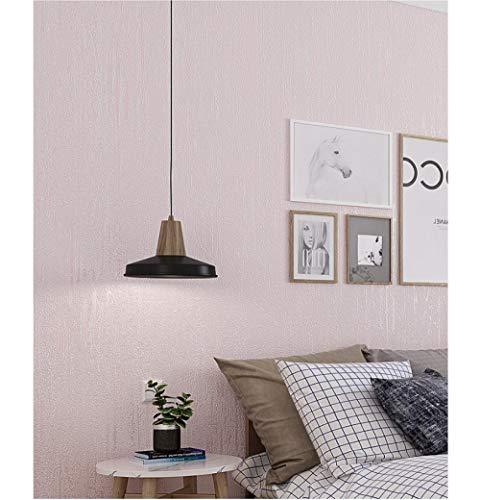 Tapete EinfarbigVliestapete Hell-Pink Modern Klassisch Opulent Schlafzimmer Haus Dekoration Wandkunst Tapeten für Wohnzimmer TV oder Küche 0.53m x 9.5m