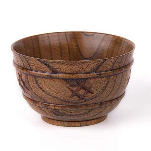 WSHFHDLC Cuenco de la Cultura Popular tazón de Sopa ecológico Ensalada de Madera Natural Cuencos Superficie de la Taza de Fruta de Madera Cuenco de la Cultura Popular