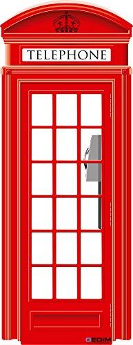 Oedim Photocall Cabina Telefónica de Londres 57x1,48cm | Decoración Ideal para Eventos o Celebraciones | Elegante y Económico