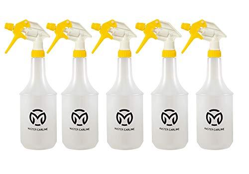 5 Stück 360 grad Sprühflasche - leer - 1 Liter Volumen mit überkopf Sprühkopf (5)