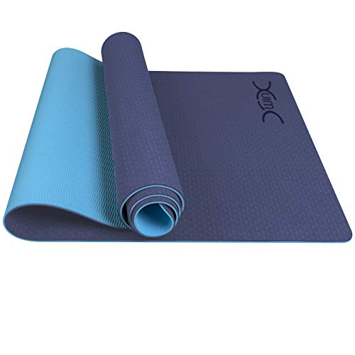"Yoga Mat, YXwin Classic 1/4 Inch Thick, Non Slip Pro Yoga Mat, Eco Friendly Exercise & Fitness Mat with Carrying Strap - for All Types of Yoga, Pilates & Floor Workouts (72"" x 26"" x1/4"")"