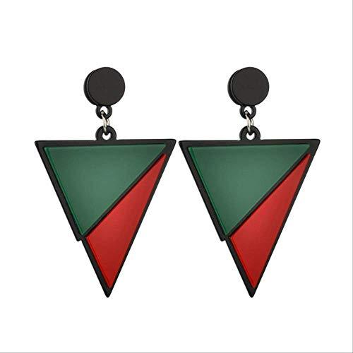 Oor Pins geometrische driehoek oorbellen zwart wit rood groen grote acryl oorbellen minimalistische sieraden eenvoudige vrouwen oorbellen Pendientesstijl 2