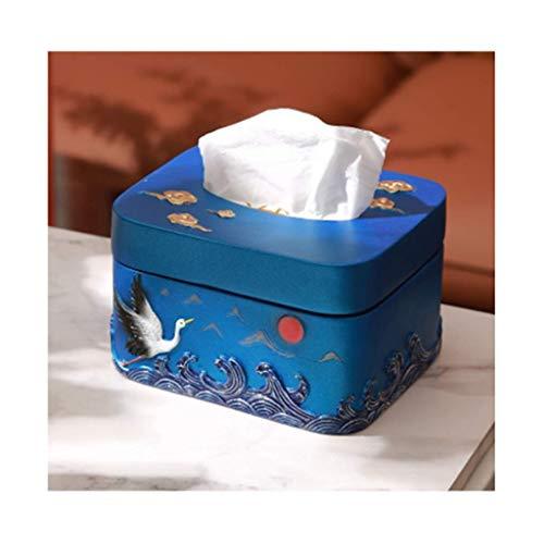 WLP-WF Tapa de Caja de Pañuelos de Resina Tapa de Caja de Pañuelos de Papel Higiénico Soporte de Toallitas Dispensador de Servilletas para Tocador Coche Oficina Dormitorio Decoración Caja de Pañuelos