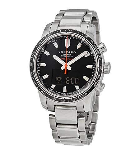 Chopard Grand Prix Black Dial Digital-Analog Chronograph Mens Watch 158518-3001