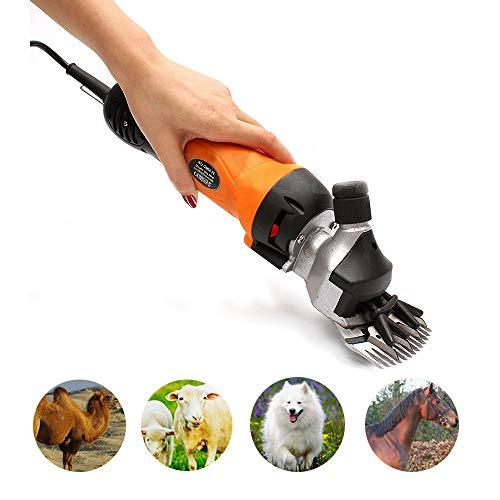 Zed Haardeuse met paarden, verstelbare elektrische paardenschaar, hoge prestatie tondeuse voor honden/runder/eisel/alpacas/lamas en andere dieren, oranje