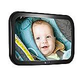 Rücksitzspiegel für Babys 360° Schwenkbar Autospiegel Baby Bruchsicherer Babyschalenspiegel Universale