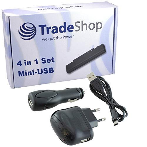 4in1 ZUBEHÖR Set: Netzteil USB Ladekabel KFZ Kabel Datenkabel Adapter für Garmin nüvi nuvi 2545LT 2547 LMT 2577 LT 2585TV 2597 LMT 3540LT 3590LMT 3597LMT 42 50LM zumo 340LM 350LM 660LM