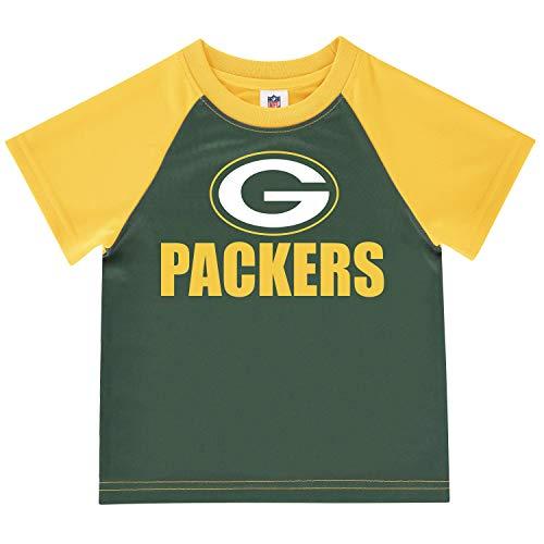NFL Green Bay Packers Short Sleeve Team Fan Tee Shirt, Green/Yellow Green Bay Packers, 4T