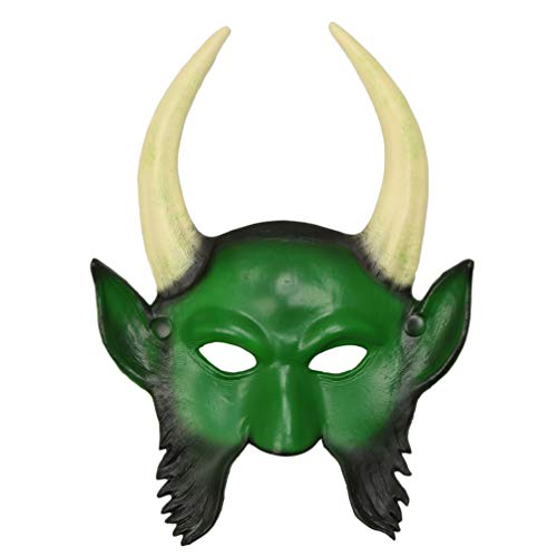 PRETYZOOM 3D Masquerade Face Cover Masquerade Devil Face Cover Cosplay Costume Supplies (Vert)