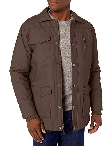 Wrangler Men's Barn Coat, Dark Brown, Large