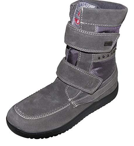 Naturino Rain Step Schuhe Stiefel Winterstiefel ANDOLLA gefüttert wasserdicht Grau, Größe:34