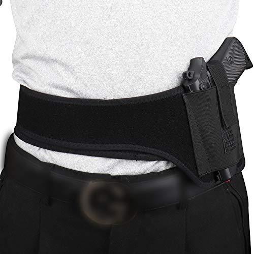 Tactical Gun Holster Concealed Belly Band Pistol Holster Elastic Waist Shoulder Holster