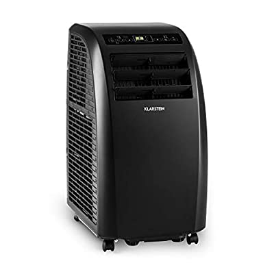 Klarstein Metrobreeze Rome - Air Conditioner, Cooling, Fan, Dehumidifier, 10.000 BTU, A+, Temperatures 18-30 ° C, 3-Stage Fan, 3 Modes, 2 Timer, Remote, Black