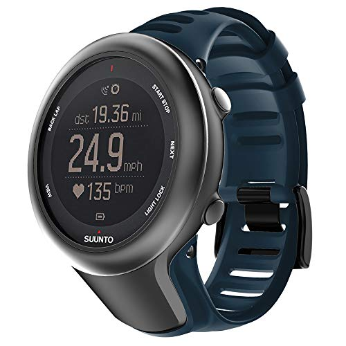 WIIKAI Bracelet de rechange en silicone pour montre Suunto Ambit3, Bleu marine