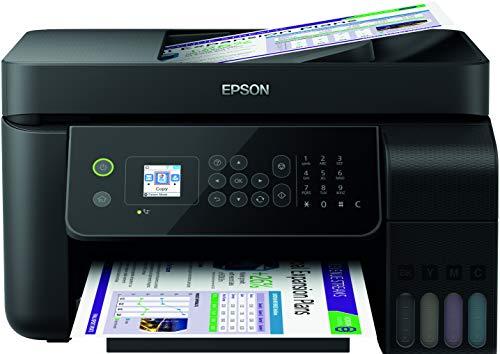 Epson EcoTank ET-L5190 - Impresora multifunción 4 en 1 (fotocopiadora, escáner, Impresora, fax, A4, ADF, Duplex, WiFi, Ethernet, Pantalla, USB 2.0) Gran Capacidad de Respuesta, bajo Coste por página