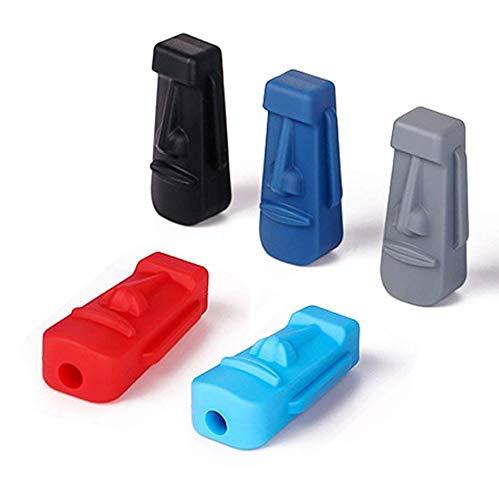 Xrten 5 Stks Siliconen Potlood Toppers,Therapie Speelgoed Kauwgom Orale Motor Therapie Speelgoed voor Kinderen
