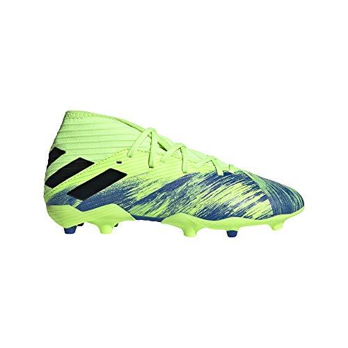 adidas Jungen Nemeziz 19.3 FG J Fussballschuh, Neongrün Blau, 30.5 EU