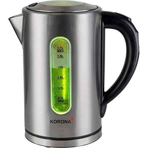 Korona 20690 Edelstahl Wasserkocher mit Temperatureinstellung - Warmhaltefunktion - 50°, 70°, 80°, 90°, 100° wählbar
