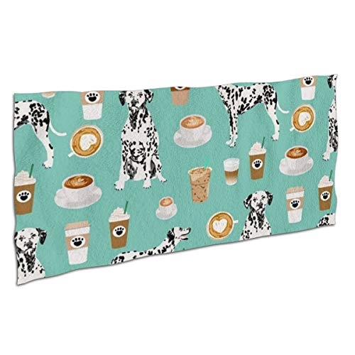 Unisex Premium Dalmatians Cute Mint Coffee Best Dalmatian Dog Bath Towels Ultra Soft Extra Large Highly Absorbent Quick Dry Bath Sheet for Beach Surfing Swimming Sports Travel Yoga Spa Hotel