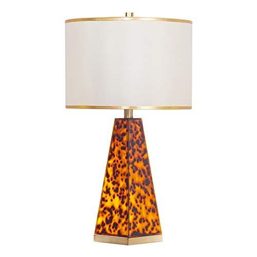 Kaper Go Lámpara de mesa con diseño de leopardo, de lujo, decorativa, para dormitorio, mesita de noche, lámpara de mesa