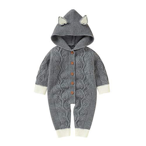 Buy Bargain Baby Boy Rompers Cute Lovely Newborn Baby Girls Boys Winter Warm Knit Outwear Sweater Ho...