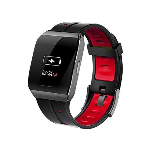 WEINANA Großbild-Smartwatch Herzfrequenz-Schlafüberwachung Smart Armband Quadratische wasserdichte Smartwatch(Color:rot)
