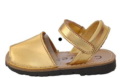 Nappaleder mit Klettverschluss., Gold - gold - Größe: 23 EU