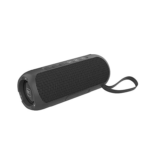 Waterproof Portable Bluetooth Speaker with 20W Stereo Sound,TWS Connection, Built-in Mic, Portable Wireless Speaker for Home and Outdoors (Black) 4