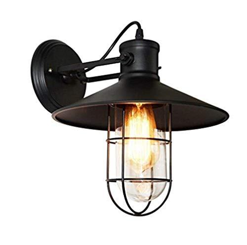 BJLWTQ Lámpara de Pared Retro lámparas de época Industrial lámpara de Pared Interior con la Cabeza Ajustable E27 Negro Nursery