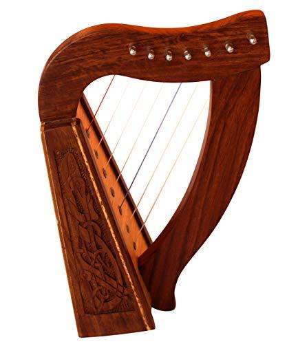 Muzikkon-Harfe mit Saiten und Stimmschlüssel