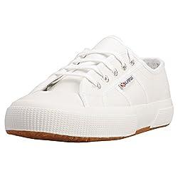 top 10 superga mens sneakers Superga Men's Low Top Trainer, White (900), 5.5 μs
