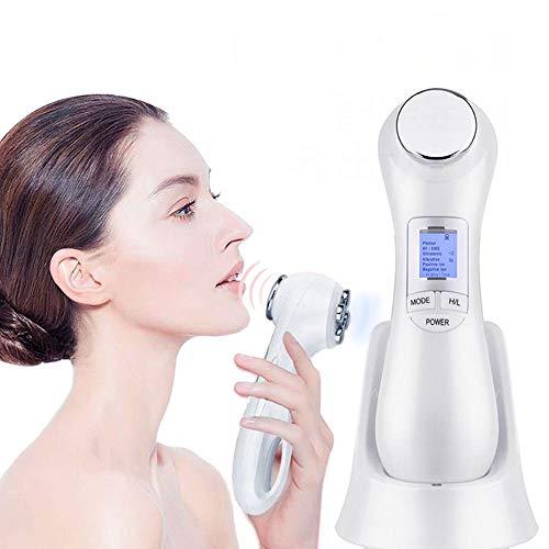 LED RF Ultrason Vibration Facial Massager, EMS Micro Actuel de Levage pour l'enlèvement des Rides Massager, Anti-âge, Deep Clean Skin Tone Massager
