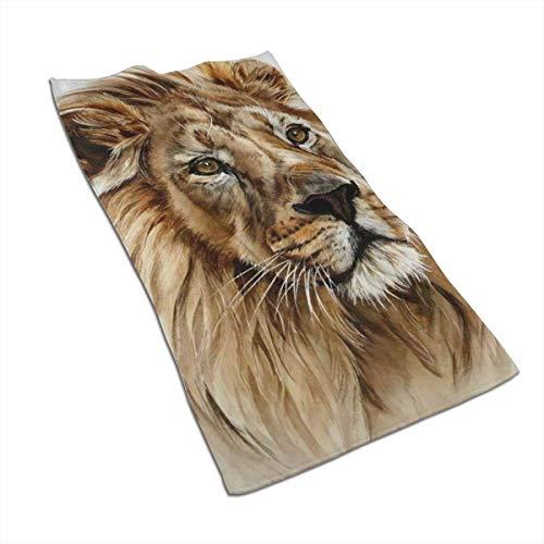 Tyueu Lion - Toalla de Mano y paño de Limpieza, Toallas de baño Extra Suaves, 70 x 45 cm