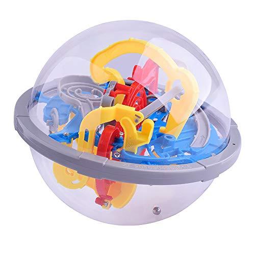 SELMAL Kinder-Puzzle-Ball, 3D-Puzzle-Bälle 100 herausfordernde verdrehte interaktive Labyrinth-Hindernisse Dekompressionsspielzeug