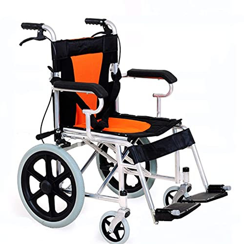 CHHD Transport Elderly Wheelchair - Foldable Lightweight and Ultra-Light Elderly Wheelchair Portable Travel Hand Push Scooter Free of Inflation Easy to Operate