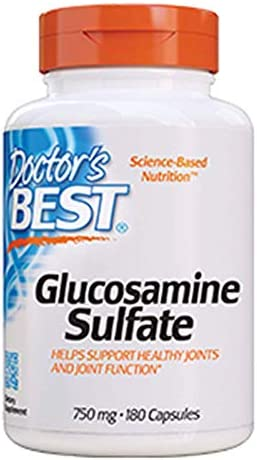 Doctor's Best Glucosamine Sulfate, Non-GMO, Gluten Free, Soy Free, Joint Support, 750 mg, 180 Caps