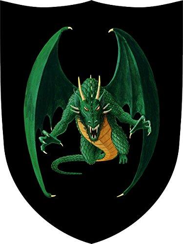 Fantashion F 16 - Ritter-Schild, Drache, Verkleiden und Kostüm, grün/schwarz