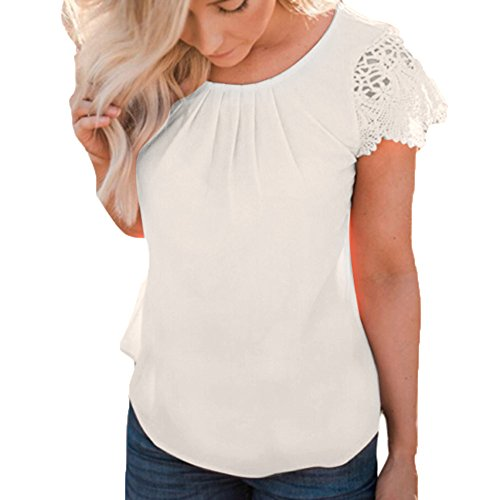 Lace Ruffle Front Top - 8