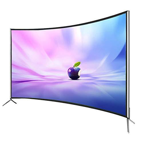 Household appliances Televisor Curvo 4K de 55 Pulgadas para el hogar, Red Inteligente WiFi LCD TV, Android TV Ultrafino de Vidrio Templado a Prueba de explosiones, Compatible con HDMI, USB, AV, VGA