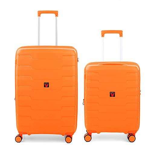 RONCATO Skyline - Juego de 2 maletas rígidas expandibles (medio + cabina) Naranja