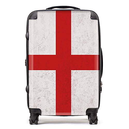Bandera de Inglaterra/Inglesa Banderas del Norte de Europa Maleta con Cerradura TSA 4 Ruedas Giratorias Equipaje 68cm 80Ltr