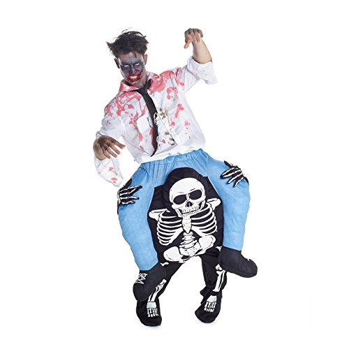 Morph Costume divertente con le gambe autogonfiabili, Unisex, Scheletro, Taglia unica