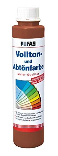 PUFAS Vollton- und Abtönfarben oxidrot 0,75 Liter