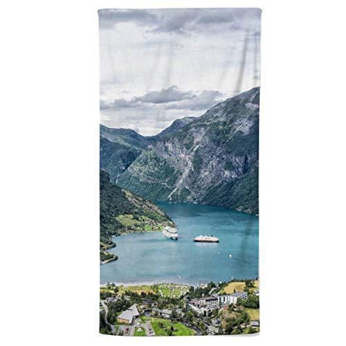 fotobar!style Duschtuch 70 x 140 cm EIN Motiv aus dem Kalender Norwegen - Unterwegs im Land der Berge, Trolle und Fjorde