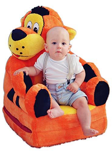 Bambi Poltrona, poltroncina apribile, divanetto per bambini in morbido peluche. Divano e giocattolo Tigrotto.
