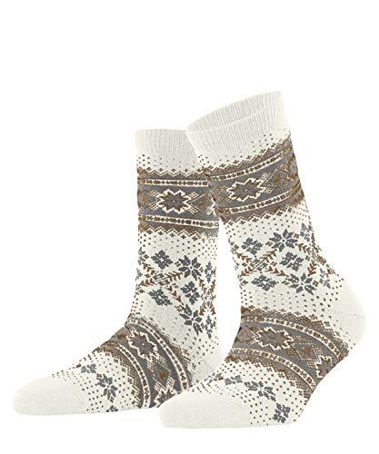 FALKE Damen Winter Holiday W SO Socken, Weiß (Offwhite 2040), 39-42 (UK 5.5-8 Ι US 8-10.5)