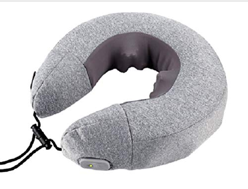 Qric Almohada Inflable Cuello automática masajeador de Cuello Inflable multifunción Dispositivo de protección del Cuello del Interior del Coche