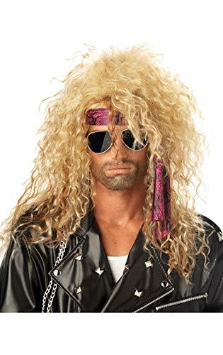 Magic Box Hombres 80s Bon Jovi Estilo Glam Rock Wig
