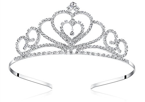 Lovelyshop Rhinestone Crystal Tiara-Wedding Bridal Prom Birthday Pegeant Prinecess Crown (Heart)